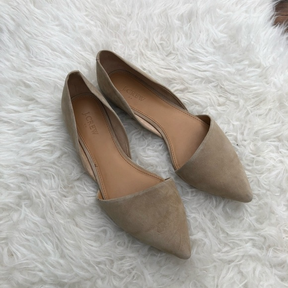 0a5a559d8c4b J. Crew Factory Shoes - J. Crew Factory Tan Suede Pointed Toe Flats
